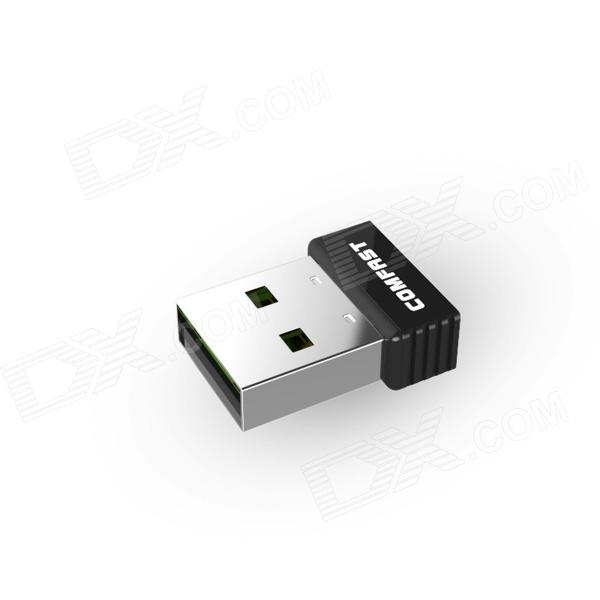 COMFAST 150Mbps Super Mini USB Wireless Network Card with WPS Button - Black