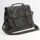 Catwalk88 Women's PU Leather Single Shoulder Messenger Bag - Black