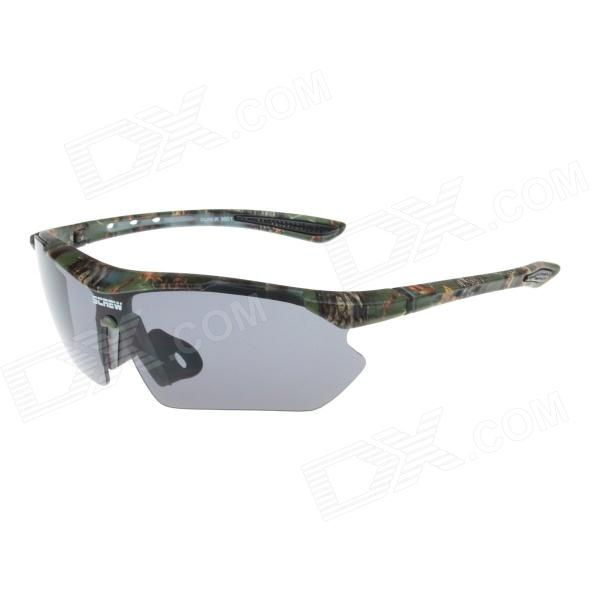 Outdoor UV400 Lens Sunglasses Goggles for Cycling / Travel - Camouflage Green