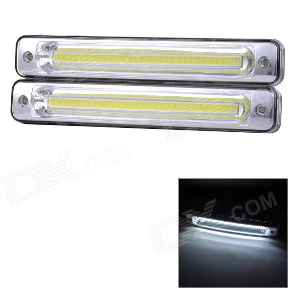 SENCART Vanntett 9W 145LM 9000K COB LED Cool White Light Car kjørelys (2stk / DC12 ~ 16V)