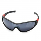 Outdoor Sports UV400 Sunglasses Goggles for Cycling / Travel - Black + Grey