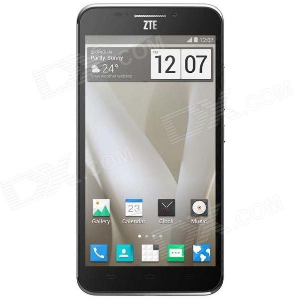 ZTE GRAND SII Android 4.3 Quad-Core WCDMA Bar Phone w/ 5.5 Screen, GPS, Wi-Fi - Gray zte q705u android 4 2 2 quad core wcdma bar phone w 5 7 screen wi fi and gps white