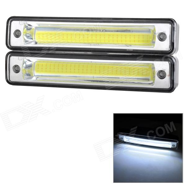 SENCART Waterproof 8W 125LM 9000K COB LED Cool White Light Car Daytime Running Light (2PCS/DC12~16V) sencart sv8 5 8 1w 40lm 9500k 5730 smd led cool white light car roof reading lamp 2pcs dc12 16v