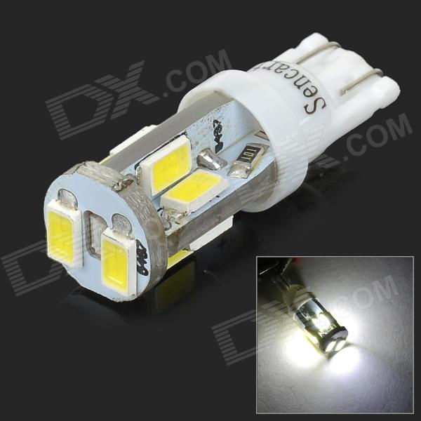 SENCART T10 4W 120lm 11000K 10-SMD 5730 LED Cool White Light Car Lamp - White (12~16V)
