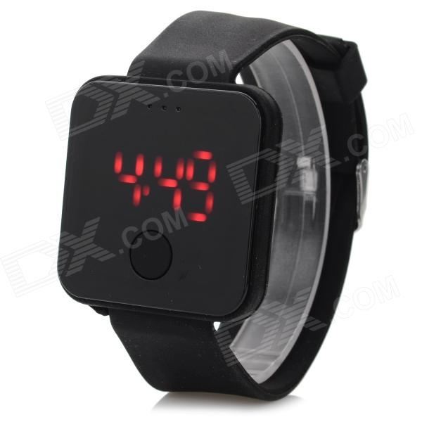ShiFenMei SF-0001 Stylish Silicone Band Digital LED Sports Wristwatch - Black (1 x 2016) портмоне dor flinger business 0001 12 0001 12 632 black df