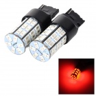 SENCART 7440 10W 25LM 700nm 5730 SMD LED Red Light Car Brake / Steering / Tail Lamp (2PCS/DC12~16V)