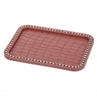 MS008 Vehicle Car Rhinestone Studded Anti-slip Non-slip PVC Mat Pad - Brown