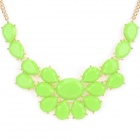NC-3867 Women's Fashionable Zinc Alloy + Resin Pendant Necklace - Green