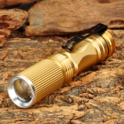 Mini SK78 120lm LED White Light 3-Mode Flashlight - Golden (1 x AA / 1 x 14500)