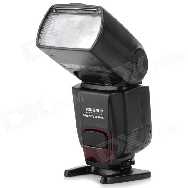 YONGNUO YN565EX II E-TTL 1000lm Flash Speedlite for Canon DSLR -BlackLighting and Flash<br>Form ColorBlackBrandYONGNUOModelYN565EX IIMaterialABSQuantity1 DX.PCM.Model.AttributeModel.UnitCompatible BrandCanonCompatible ModelsCanon EOS 5DII 5D III 5D 6D 7D 50D 40D 30D 20D 10D EOS1V/EOS3.EOS1D/1DS/70D/60D/700D/650D/600D/550D/500D/1100D/1000D/450D/400D/350D/300D etcActual Lumens1000 DX.PCM.Model.AttributeModel.UnitTheoretical Lumens1000 DX.PCM.Model.AttributeModel.UnitTypeOthersVarible Focus YesTTL Mode   YESGN58 DX.PCM.Model.AttributeModel.UnitColor Temperature5500KMax Sync Speed1/20000 DX.PCM.Model.AttributeModel.UnitRecycle time3 DX.PCM.Model.AttributeModel.UnitWorking Voltage   6 DX.PCM.Model.AttributeModel.UnitPower10 DX.PCM.Model.AttributeModel.UnitLED Quantity1 DX.PCM.Model.AttributeModel.UnitBattery TypeAABattery included or notNoBattery Quantity4 DX.PCM.Model.AttributeModel.UnitPacking List1 x Speedlite light 1 x Protective bag 1 x Stand holder1 x Chinese &amp; English user manual<br>