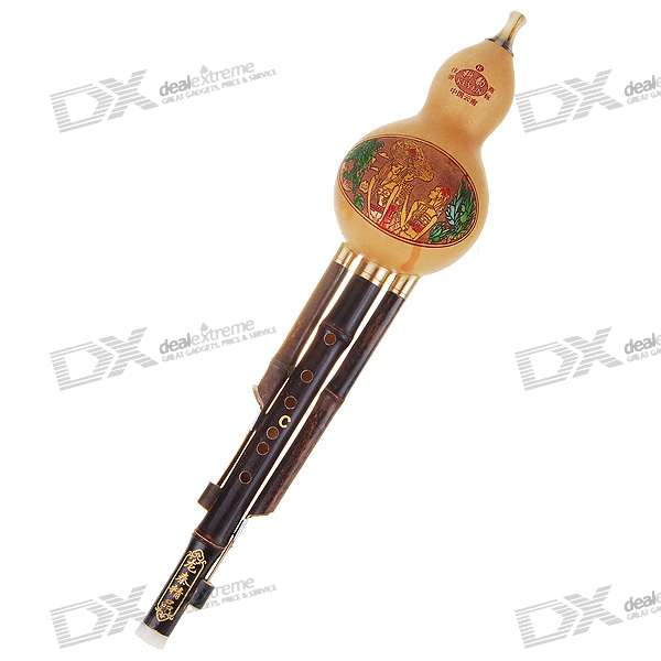 Handcrafted Bottle Gourd Bamboo Flute with Protective Case