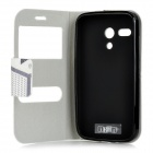 Protective Flip-open PU Leather + TPU Case for MOTO G / DVX