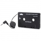 SL-79115 3.5mm Car Audio Cassette Adapter for MP3 / MP3 / Cell Phones - Black