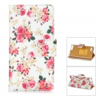 Protective PU Leather + Plastic Case for HUAWEI G6