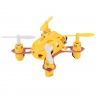 Wltoys V282 Mini 4-CH 2.4GHz Radio Control R/C Flying Saucer w/ Gyro - Yellow