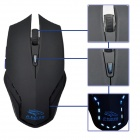 R.horse RH2600 USB 2.0 Wired LED Backlit Gaming Mouse - Blue + Black