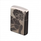 DE479 Sexy Woman Patterned Kerosene Lighter - Black
