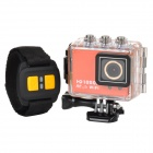 "AT200 Sports Waterproof 1.5"" TFT Screen HD CMOS Bike Mounted R/C DVR Video Recorder w/ Wifi - Orange"