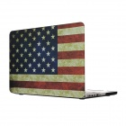 "Hat-Prince Retra USA Flag Pattern Full Body Matte Case for MacBook Pro 15.4"" w/ Retina Display"