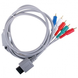 Component Video and Audio AV Cable for Wii - Grey (1.75m)