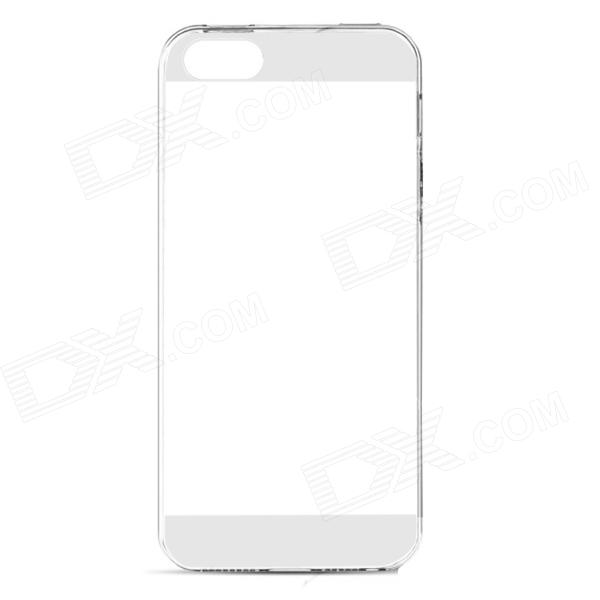 Mr.northjoe Ultra Slim Protective TPU Back Case for IPHONE 5 / 5S - Transparent + White
