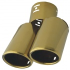 Kapeier G2007 Universal Stainless Steel Car Exhaust Pipe Muffler Tip - Golden