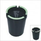 Kapeer Cup Shaped Matt Finish Glow-in-the-Dark Car Ashtray - Black