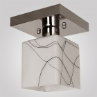 Conca 1552 Mini Square Aisle Decorative Ceiling Lamp Holder w/ E27 Connector - White + Silvery Grey