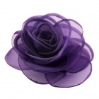 EQute Elegant Fashionalbe Solid Rose Flower Headdress Hair Clips / Corsage - Purple