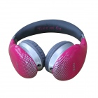 OYK OK-400 3.5mm Wired Stereo Headband Headphone w/ Microphone - Deep Pink + Black