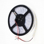 KINFIRE W-50 144W 5500lm 3500K 600-SMD 5050 LED Warm White Light Strip - Black + White (12V / 5m)