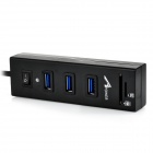apower-link D-030 USB 3.0 3-Port HUB + SD / TF kortläsare combo