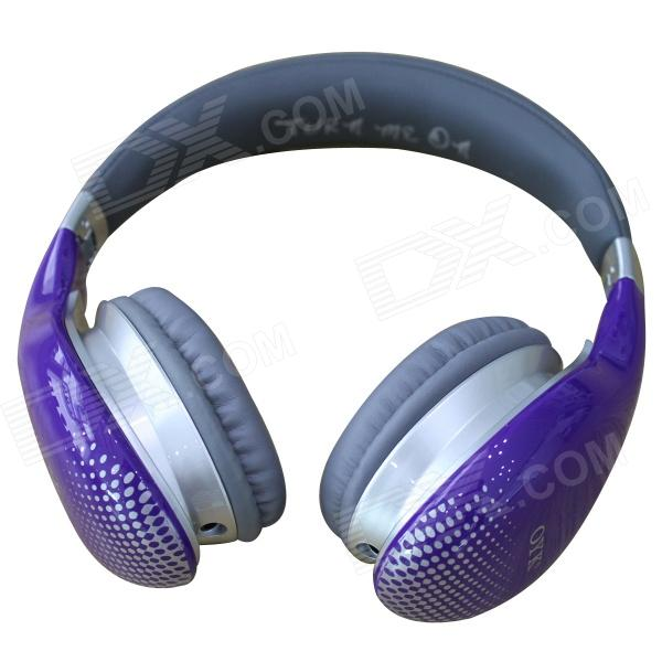 OYK OK-400 3.5mm Wired Stereo Headband Headphone w/ Microphone - Orchid trendwoo® twins bluetooth wireless speaker support 2 0 left and right stereo sound surround with built in microphone hands free music player