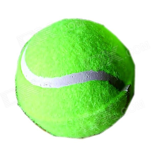 Tennis Ball Shaped Environmental Friendly Bite Resistant Rubber Pet Elastic Ball Toy for Dog - Green каталог panasonic