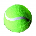 Tennis Ball Shaped Environmental Friendly Bite Resistant Rubber Pet Elastic Ball Toy for Dog - Green