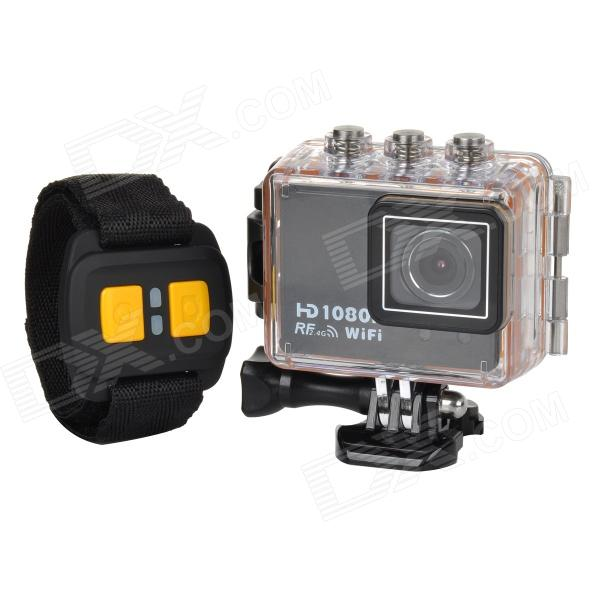 AT200 Sports Waterproof 1.5 TFT Screen HD CMOS Bike Mounted R/C DVR Video Recorder w/ Wifi - Black sensor at v500 at 005vh tested ok