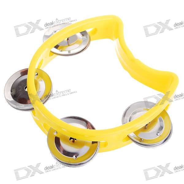 Hard Plastic Tambourines (Color Assorted)