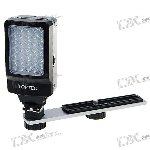 2*AA Powered 35-LED 5000-6000K Video Light for Camcorder