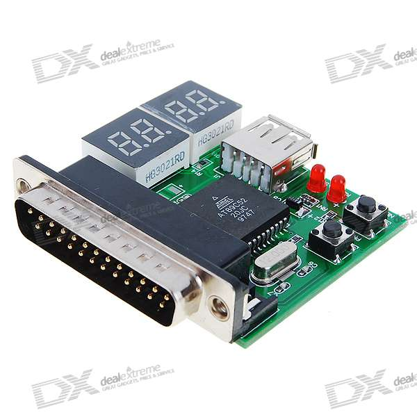 USB/Parallel Laptop Motherboard Analyzer/Diagnostic Test POST Card (4-Digit Codes)