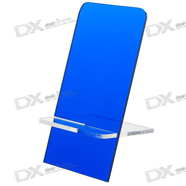 Plexiglass Cell Phone Holder (Blue)