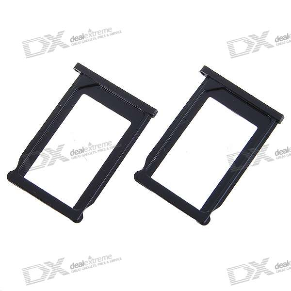 Plastic SIM Card Tray Holder for Iphone 3g/3GS (Black/2-Pack)