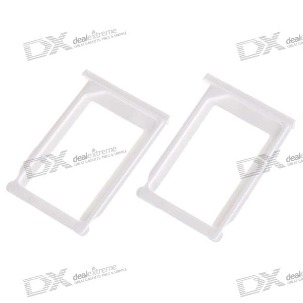 Plastic SIM Card Tray Holder for Iphone 3g/3GS (White/2-Pack)