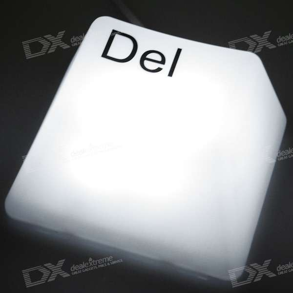 Cute Del Key Night Light - White (EU Plug/220V)