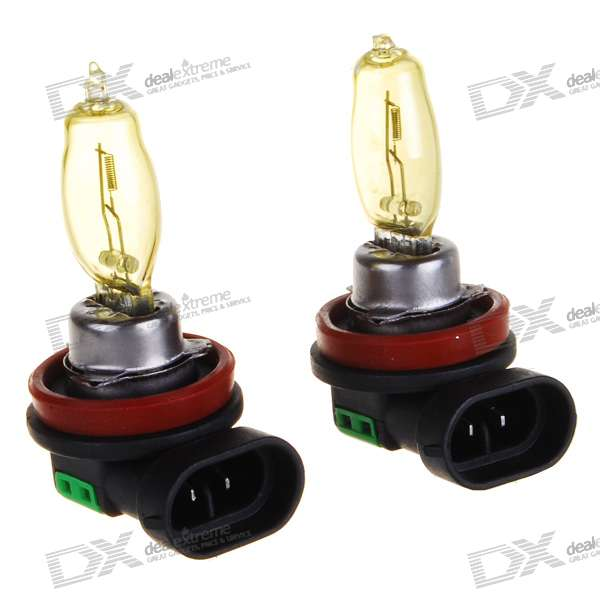 HOD H11 100W Yellow Car Light Bulbs (2-Pack/DV 12V)
