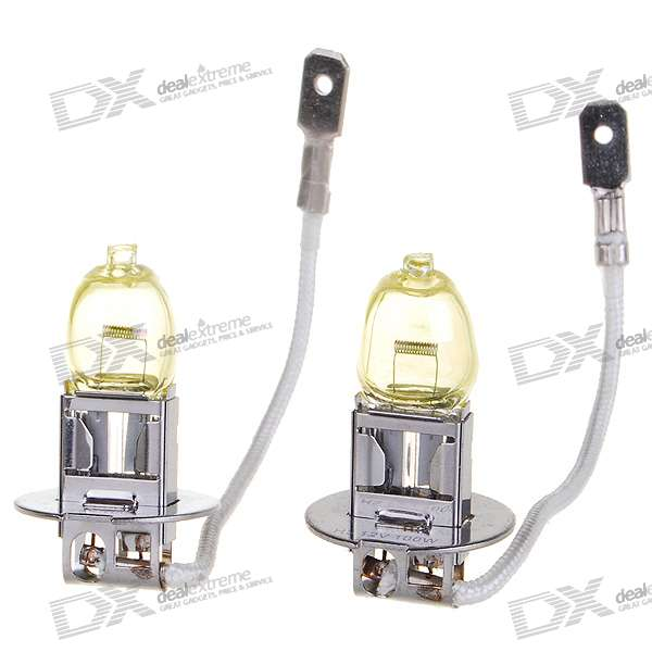 HOD H3 100W Yellow Car Light Bulbs (2-Pack/DV 12V)