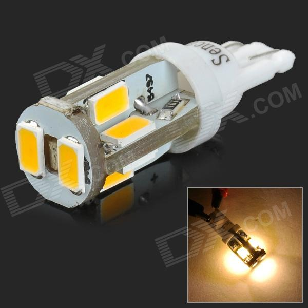SENCART T10 4W 120lm 3500K 10-SMD 5730 LED Warm White Light Car Lamp - White (12~16V)