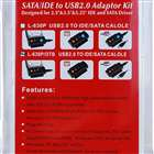 SATA/IDE to USB 2.0 Adapter Converter with AC Power Adapter for 2.5/3.5/5.25&quot;&quot; Hard Drive