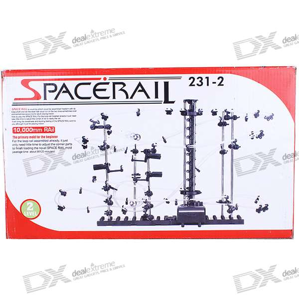 SpaceRail DIY Physics Space Ball Rollercoaster with Powered Elevator (10000mm Rail)