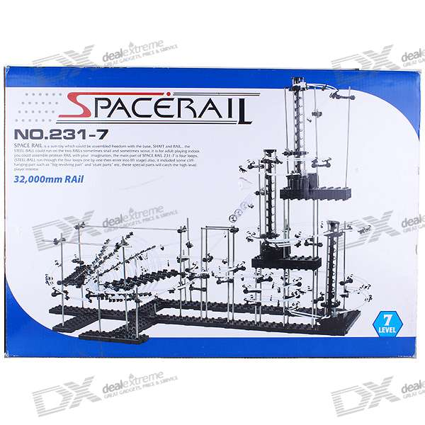 SpaceRail DIY Physics Space Ball Rollercoaster with Powered Elevator (32000mm Rail)