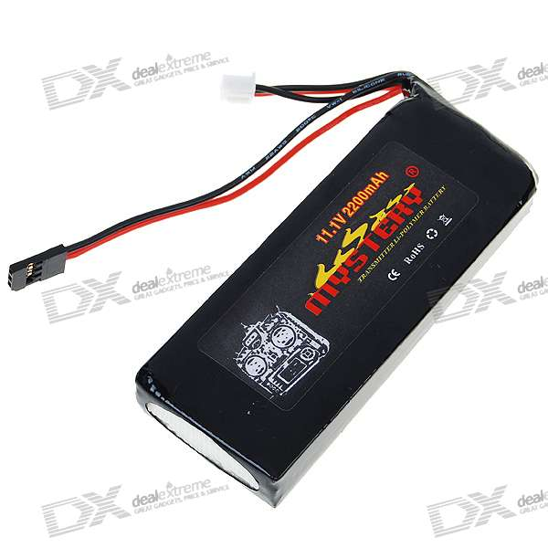 Mystery 11.1V 2200mAh Rechargeable Lithium Polymer Battery for Futaba Transmitter